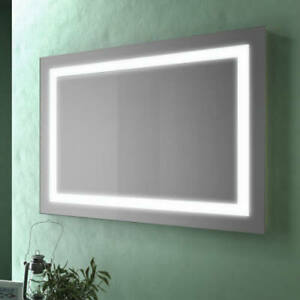 Specchio bagno design da 80x60 cm con cornice retroilluminata a LED ...