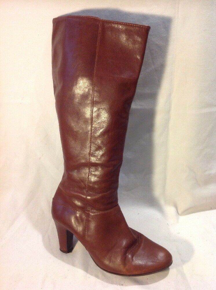 Autograph Brown Knee High Leather Boots Size 5