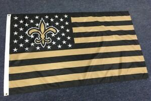 New-Orleans-Saints-3x5-Ft-American-Flag-Football-New-In-Packaging