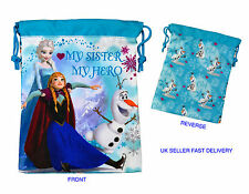 Disney Frozen Elsa Anna OLAF suave nylon cordón Colegialas almuerzo Snack Bag
