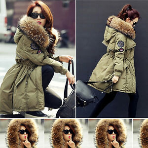 Luxurious Winter Warm Women Big Large Real Fur Hood Real Duck Down ...