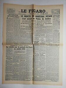 N817-La-Une-Du-Journal-Le-Figaro-24-juillet-1945-le-proces-marechal-Petain