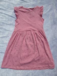 festliches Kleid von H&M Gr 134/140 rosa-pink Glitzer ...