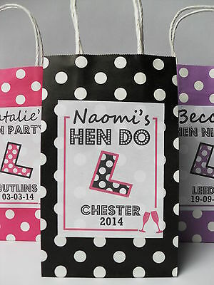 HEN PARTY BAG *FILLED* PERSONALISED GIFT BAGS FAVOUR ACCESSORIES FUN GAME IDEA