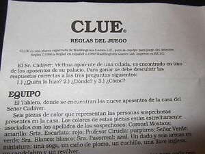 instructions on how to play clue the board game
