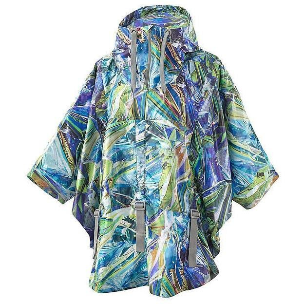 Adidas by stella mccartney run Print Cape JKT chaqueta poncho impermeable mujer nuevo
