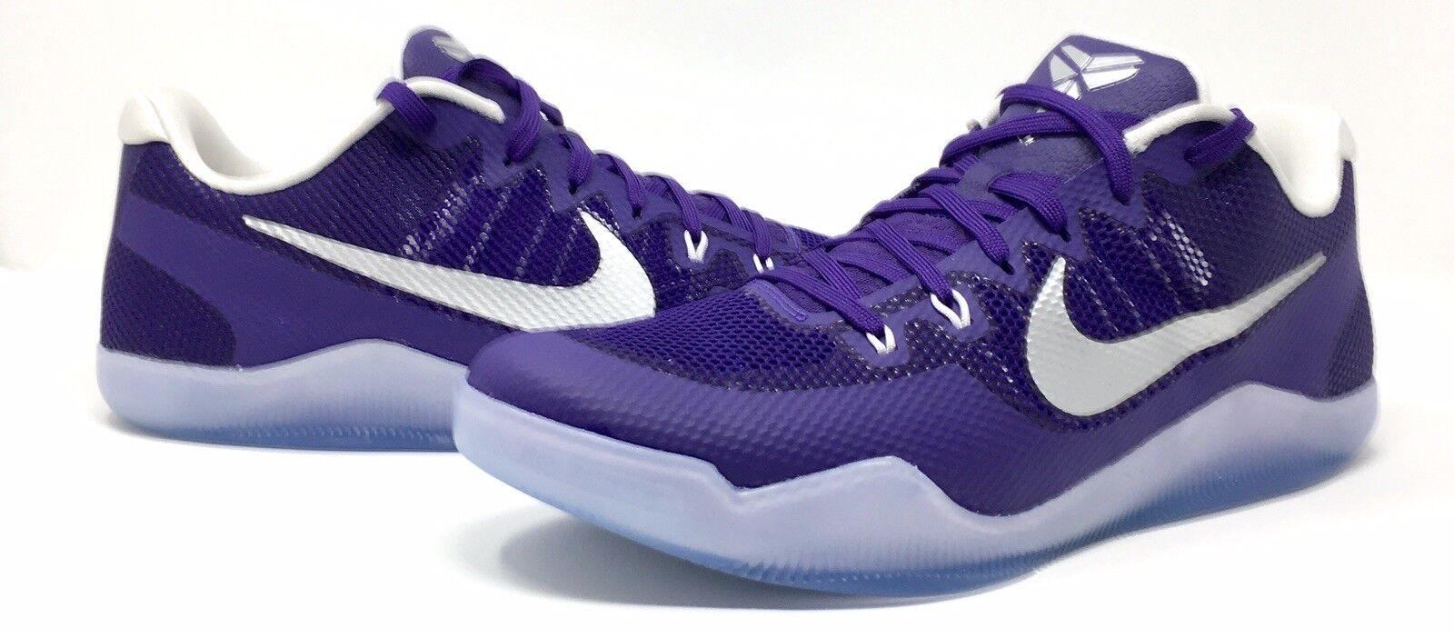 Nike Kobe XI 11 Low TB Promo Basketball Purple Silver White 856485-551 size 14.5
