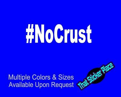 7 inch #nocrust JDM window decal sticker PAUL WALKER