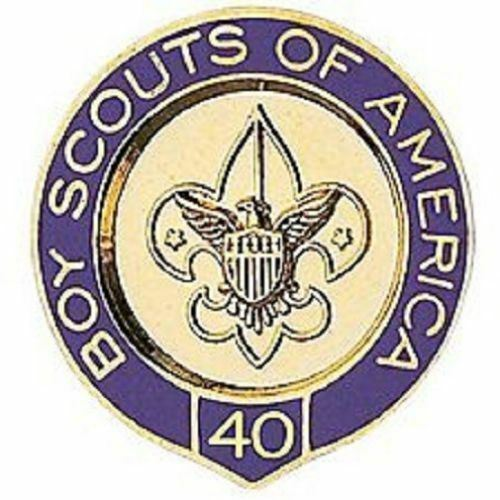 BOY SCOUTS OF AMERICA BSA OFFICIAL 40 YEAR VETERAN PIN OA JAMBOREE CAMP TRADING