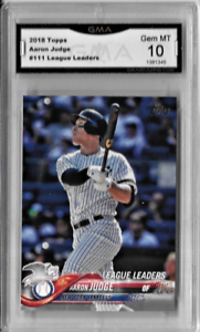 Aaron Judge 2018 Topps League Leaders Card Graded by GMA Gem Mint 10 1 Free Card