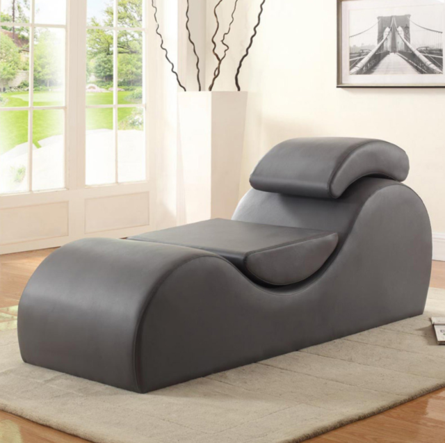 Chaise Lounge Chair.Yoga Chaise Lounge Chair Sex Lounger Sofa Couch Faux Leather