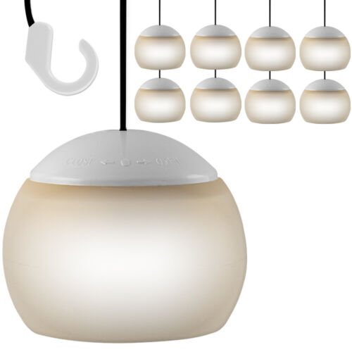 8x LED Hanging Light Camping Lighting Ceiling Garden Multi-Purpose Outdoor New
