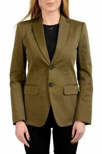 Dsquared2 Dark Green Two Button Women's Blazer US XS IT 38