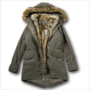 bbcac9ee7e828 NWT Abercrombie&Fitch by Hollister 3-In-1 Faux Shearling Fur Lined ...