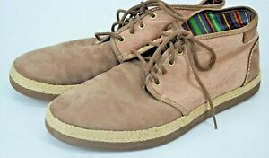 UGG Cantrell Mens Size 11.5 Tan 1002236 Canvas Leather Chukka Ankle LaceUp Boots