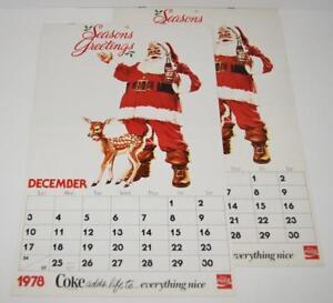 1978 Calendario.Detalles Acerca De Vintage Coca Cola 1979 Diciembre 1978 Con Calendario Santa 11 X17 5 Lote De 2 Coca Cola Mostrar Titulo Original