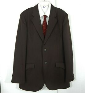 vintage-brown-CIRCLE-S-jacket-blazer-sport-coat-yoke-western-cowboy-long-44L
