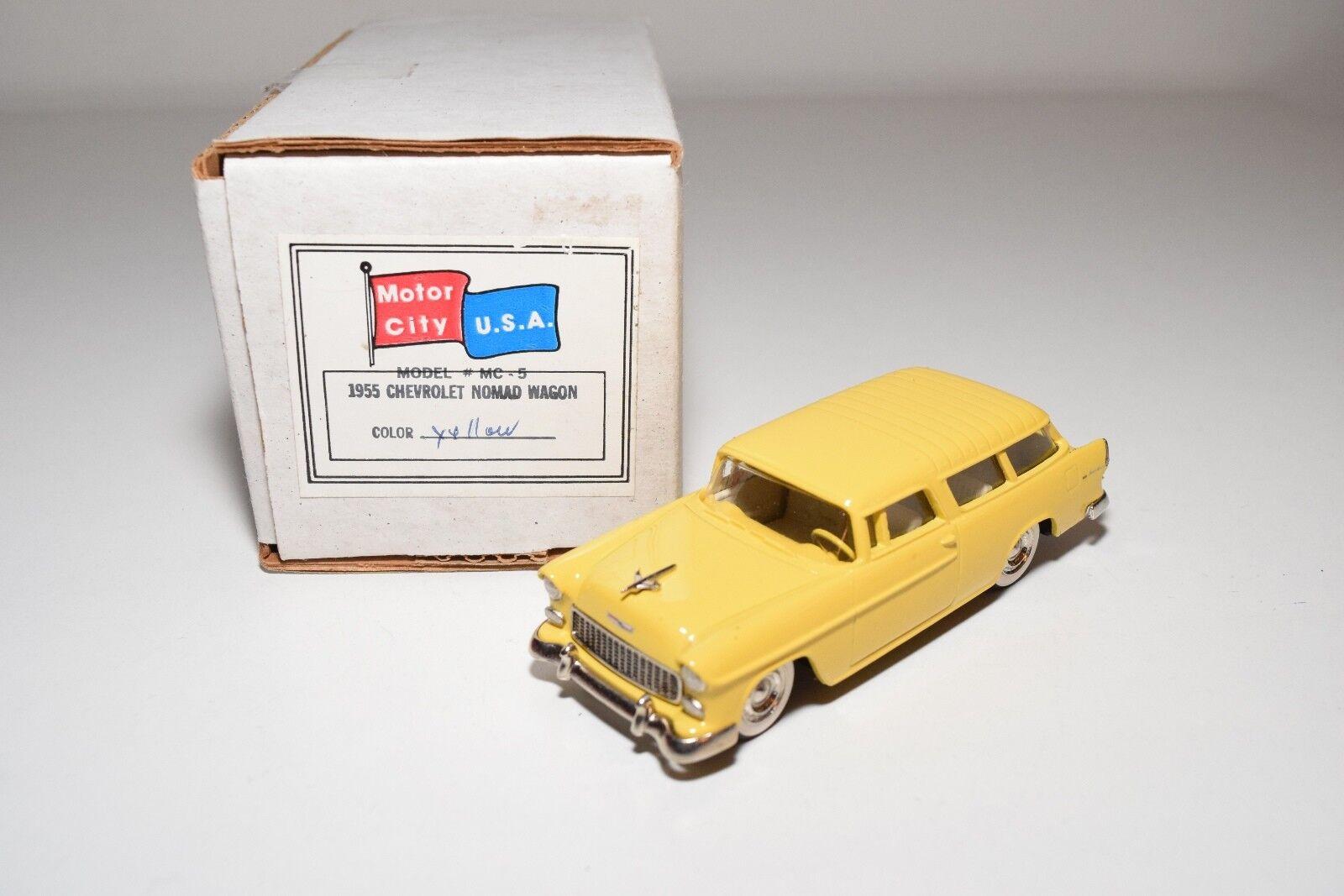 U.S.A. MODELS MOTOR CITY MC-5 CHEVROLET NOMAD WAGON 1955 amarillo MINT BOXED