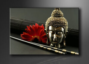 bild marken bilder leinwand auf rahmen buddha 120x80cm xxl 5043 ebay. Black Bedroom Furniture Sets. Home Design Ideas