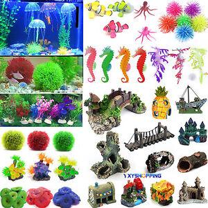 Artificial-Coral-Water-Plant-Ornament-Plastic-Aquarium-Fish-Tank-Landscape-Dec
