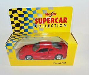 MAISTO-Sportscar-Supercar-modele-collection-coffret-Ferrari-F40-DIECAST-CAR
