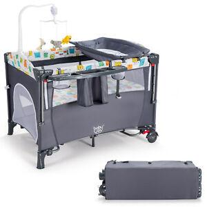 Babyjoy 5 in 1 Baby Nursery Center Foldable Toddler Bedside Crib w/Music Box