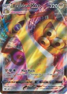 AEGISLASH VMAX 127//185 ULTRA RARE HOLO SWORD /& SHIELD VIVID VOLTAGE POKEMON CARD