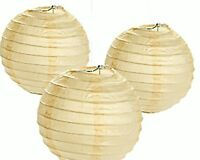 12 Ivory White Paper Chinese Lanterns Centerpieces Wedding Party Decorations