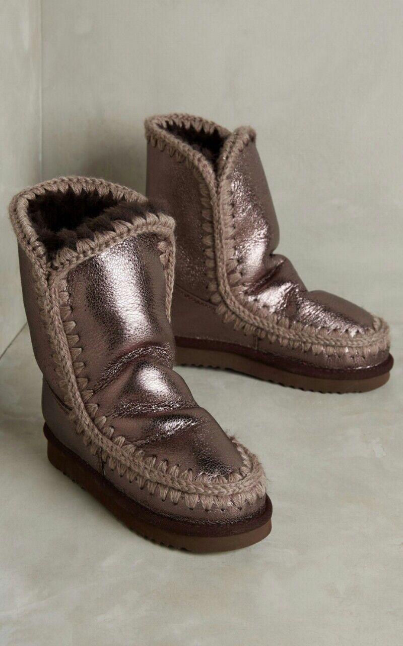 Anthropologie Mou Shearling botas Metálico Metálico Metálico Talla 7 Súper acogedor  buen precio