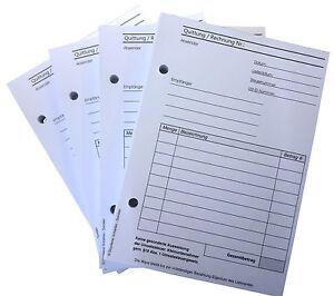 12x RECHNUNGSBLOCK Quittung Kleinunternehmer §19 - A6 100 BLATT gelocht (22421)