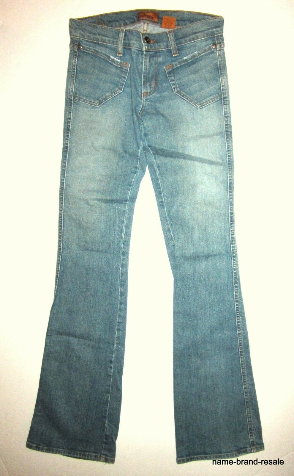 JAMES Preserved Denim JEANS Womens 26 x 34 LONG TALL Light Wash Bootcut DESIGNER