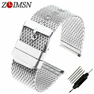 Steel-Band-Stainless-Watch-Strap-Bracelet-Wrist-Mesh-Link-Milanese-18-20-22-24mm