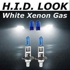 Blue//White H1 Xenon HID Look Halogen High Beam Headlight Replacement Bulbs