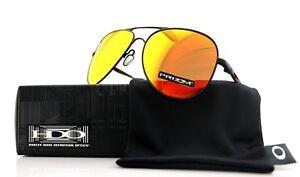 50219795c8 NEW OAKLEY ELMONT L Satin Black Prizm Ruby Aviator Sunglasses OO ...