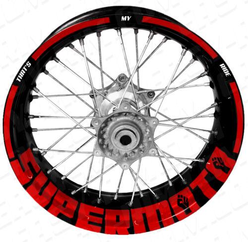 KTM,Husqvarna,Suzuki Motorrad Felgenaufkleber Aufkleber Supermoto TMR rot