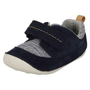 Détails sur Clarks Petits Move Garçons Bleu Cuir Enfant Pré Walker Chaussure