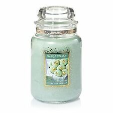 New Yankee Candle 22oz Cookie Swap Crunchy Pistachio Vanilla Scent Jar Candle