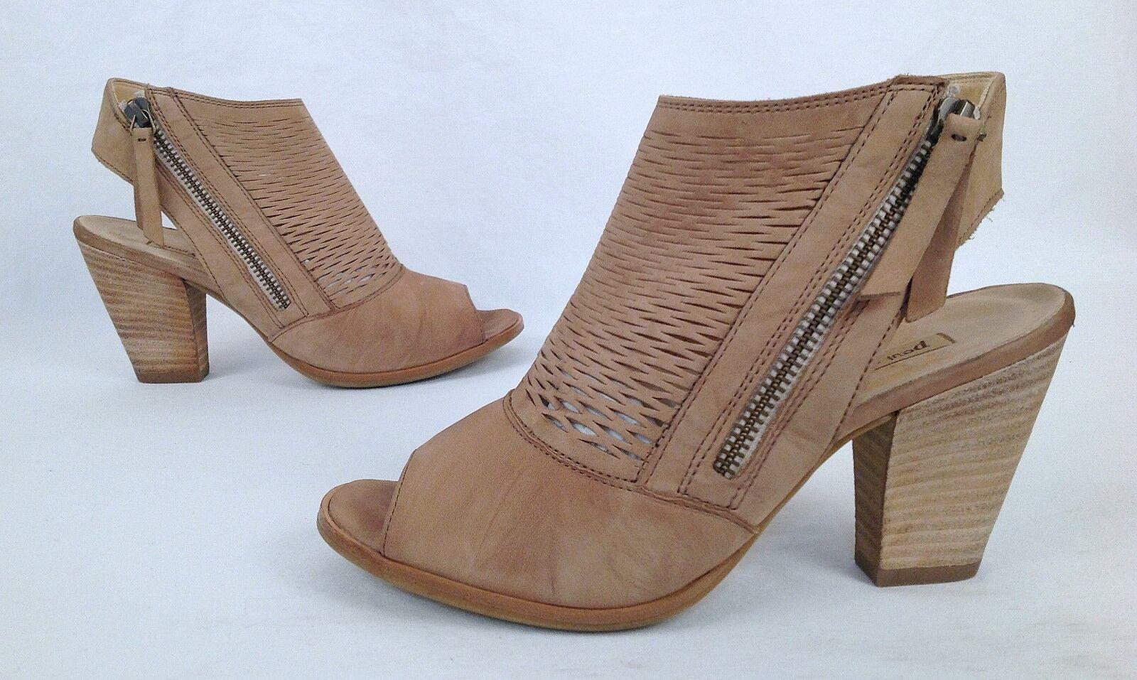 Paul Green & 039;Willowi& 039; Peep Toe Sandal- Sisal Leather-  US 5.5  AU 3-  349 (P21)