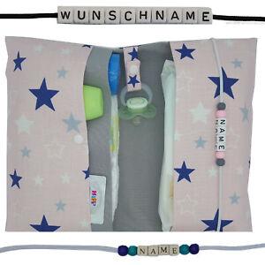 XXL Windeltasche mit Name Wickeltasche Junge Mädchen Geburt Baby Taufe Sterne
