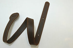 XL Ersatzschlöppe für Gitarrengurt aus Leder Sasso hellbraun zum verlängern