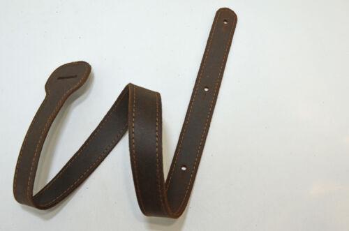 XL Ersatzschlöppe für Gitarrengurt aus Antik Leder dunkelbraun zum verlängern