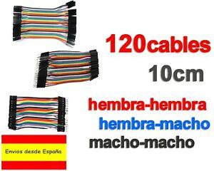 120x CABLES Hembra-Macho Hembra-Hembra Macho-Macho jumpers dupont arduino K0114