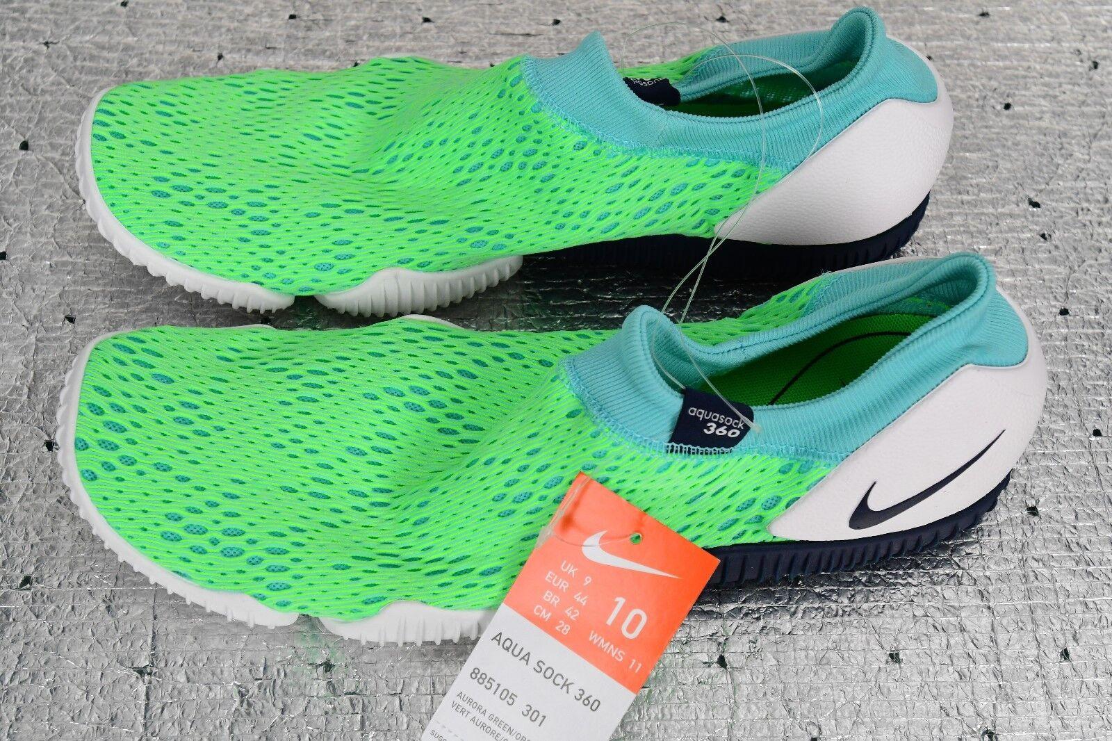 Nuove nike aqua sock 360 uomini e 10 donne '11 dimensioni mocassini 885105-301 verde