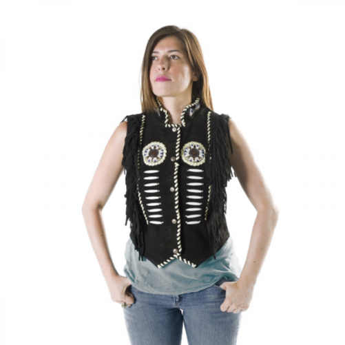 146 SQUAW VEST STYLE INDIAN BEFORE UNISEX OSX LEATHER