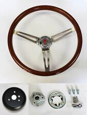 "Oldsmobile Cutlass 442 88 Wood Steering Wheel 15"" High Gloss Finish"