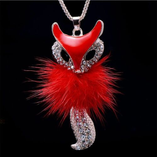 GIRL Fine Jewelry Feather en Alliage de Zinc Strass Pull Collier Pendentif