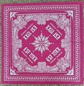 EST Fest 19XX Pink Paisley Bandana Mgk Machine Gun Kelly ...