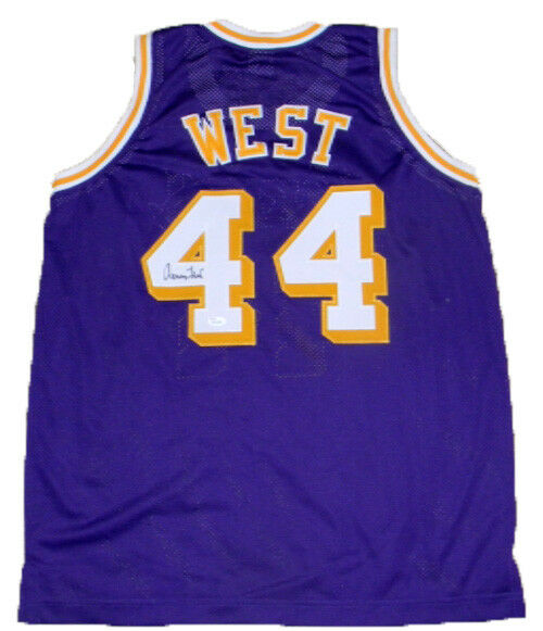 fa240d4e0 Jerry West Hand Signed Autographed  44 Purple Jersey Los Angeles Lakers JSA