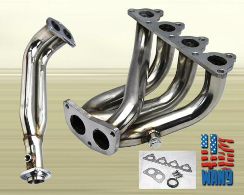 Stainless 4-2-1 Header FOR Civic//Crx//Del Sol D-Series L4 Sohc Exhaust//Manifold