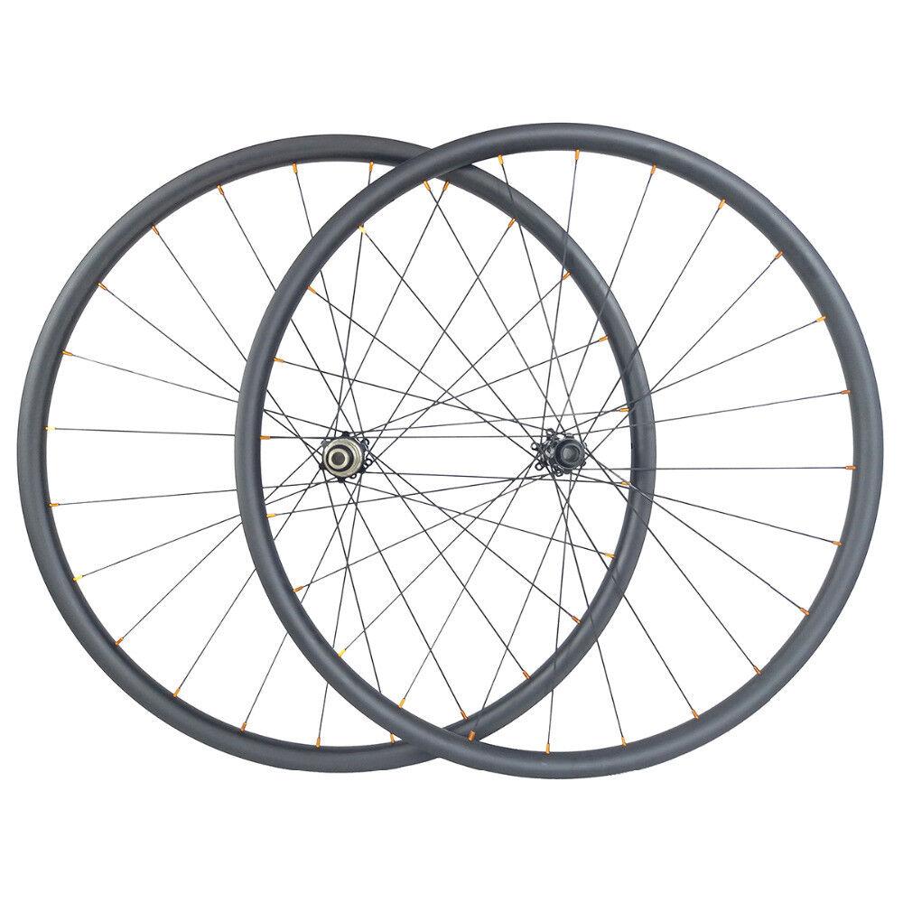 29er Disc Brake Gravel Bike Cyclocross carbon Wheels 27mm wide straight pull hub